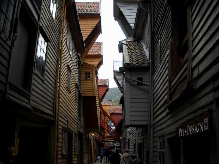 Die malerische Altstadt Bryggen in Bergen, Norwegen