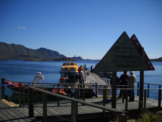 Anlegestelle in Leknes, Lofoten