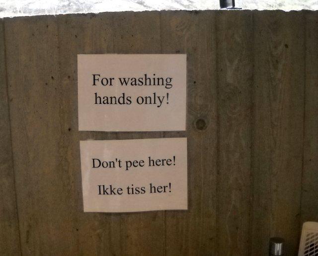 Norwegen Lustige Toilette