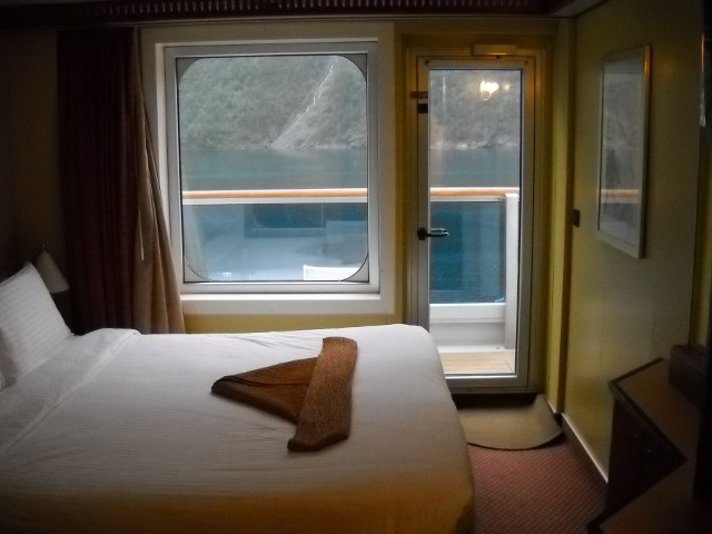 Unsere Balkonkabine auf der Costa Pacifica Norwegen