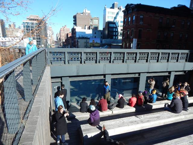 New York City High Line Park, Highline Fenster