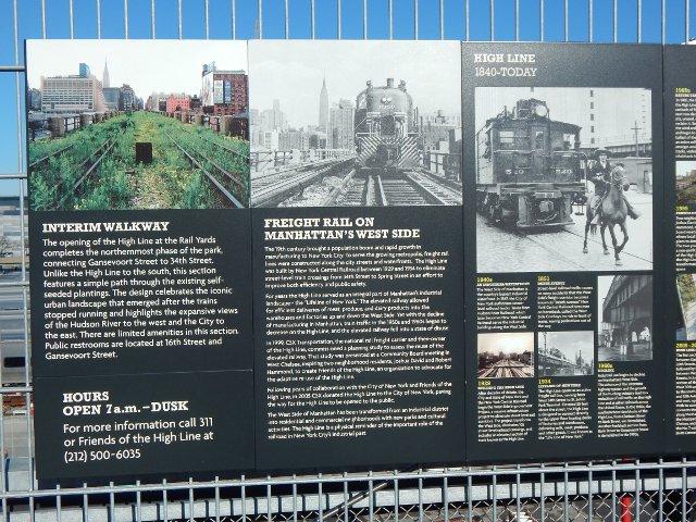 Schautafel am High Line Park New York