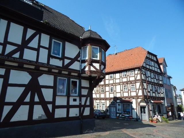 Fachwerkhäuser in Laubach, Hessen.