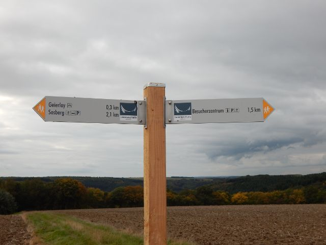 Entfernungen Geierlay Besucherzentrum