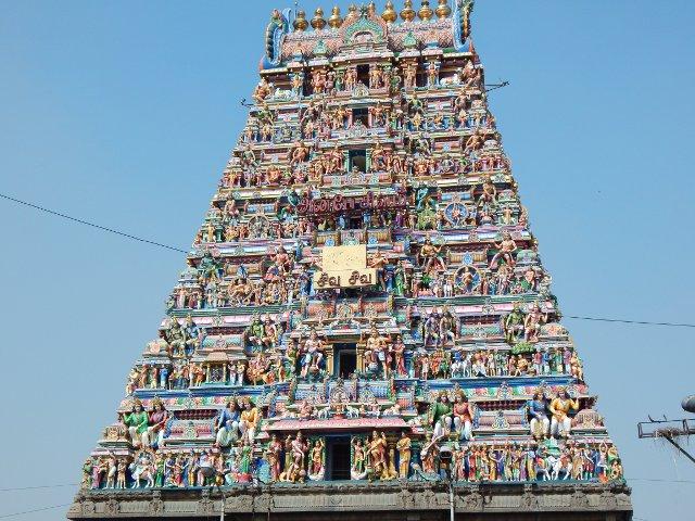 Gopuram Kapaleeshwara Tempel Chennai