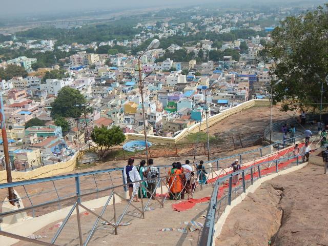 Trichy Ganesha Tempel Stufen