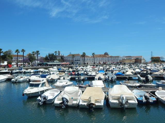 Der Hafen in Faro, Portugal.