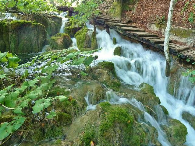 Wasserfall in Kroatien, Plitwitzer Seen. Wasserfälle Europa