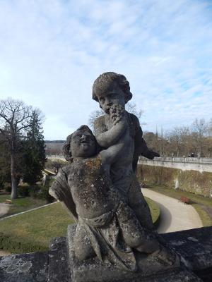 Putten im Hofgarten in Würzburg.