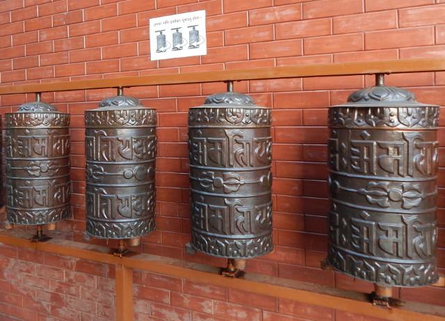 Gebetsrollen im buddhistischen Kloster in Nepal