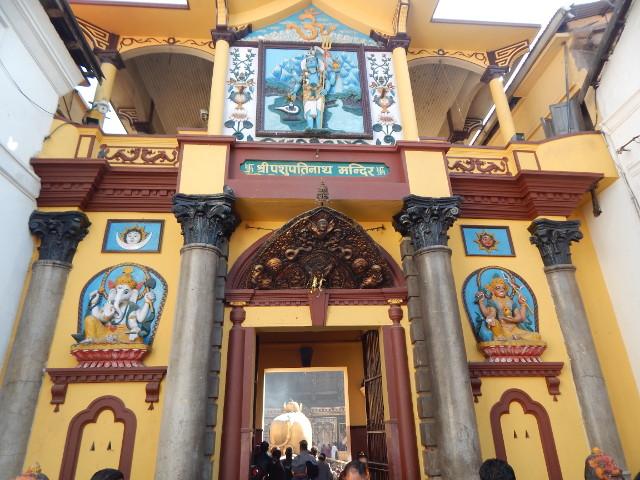 Der große Shiva-Tempel in Pashupatinath ist für Nicht-Hindus verboten.
