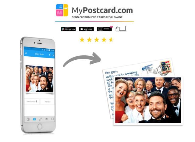 Eigene Fotos als Postkarte online verschicken.