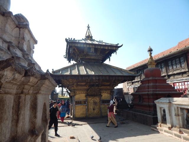 Tempel der Göttin Hariti in Swayambhunath, Kathmandu, Nepal