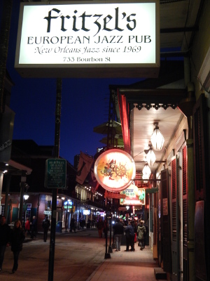 Fritzels European Jazz Pub in der Bourbon Street.