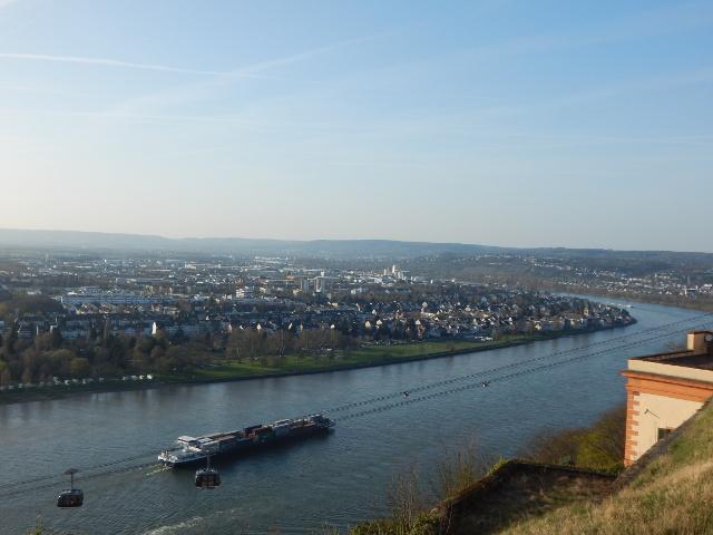 Blick über den Rhein von der Festung Ehrenbreitstein