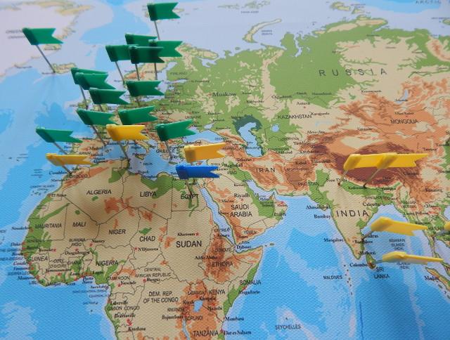 weltkarte reiseziele Die Weltkarte als Pinnwand, ein ideales Geschenk für Weltreisende   weltkarte reiseziele