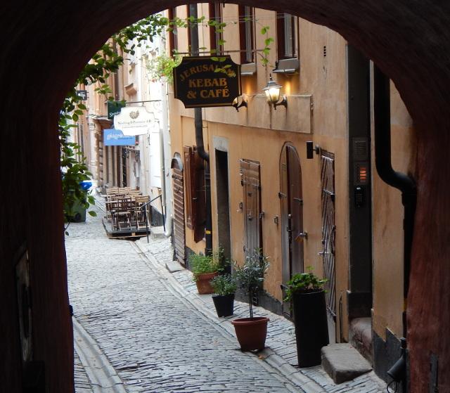 Altstadtgasse in Gamla Stan, Stockholm