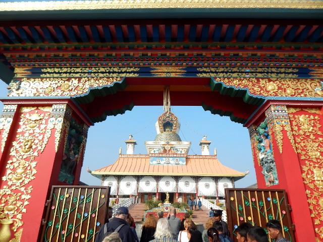 Deutscher Tempel im Friedenspark von Lumbini, Nepal.
