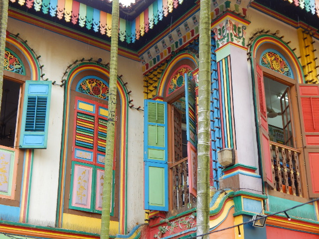 Buntes chinessisches Haus in Little India Singapur