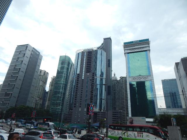 Die Hochhäuser der Stadt im modernen Kuala Lumpur, Malysia.