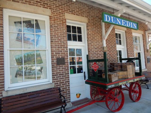Der ehemalige Bahnhof in Dunedin, Florida