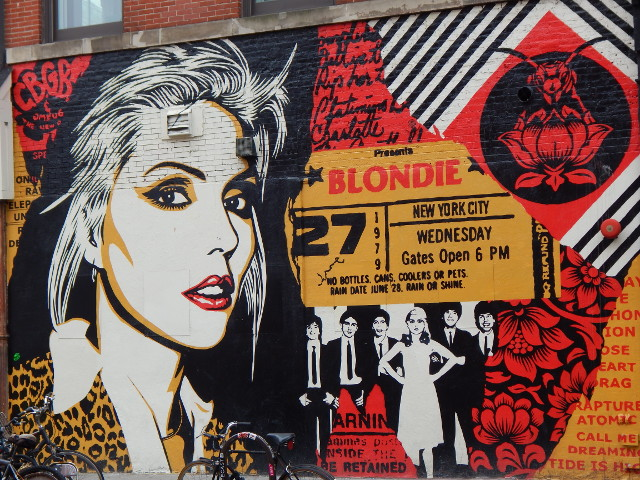 Das Blondie Mural, Street Art in New York.