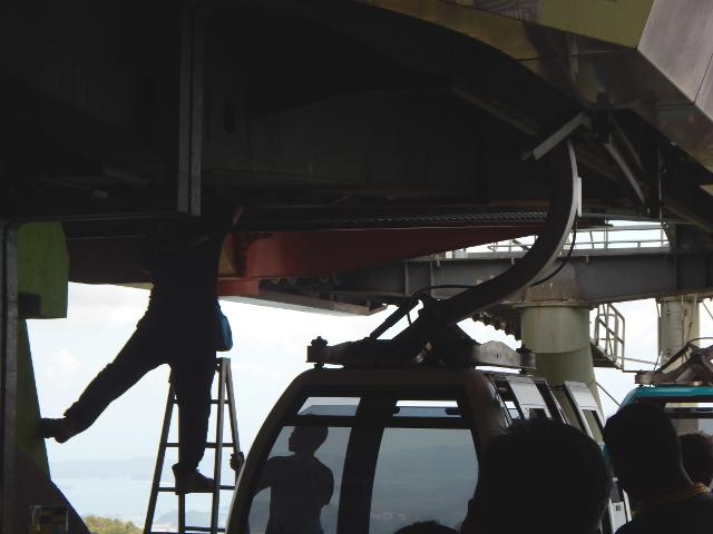 Reparatur der Seilbahn