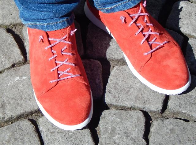 Ganter Schuhe, auch bei Kopfsteinpflaster bequem. Bequemschuhe für Einlagen.