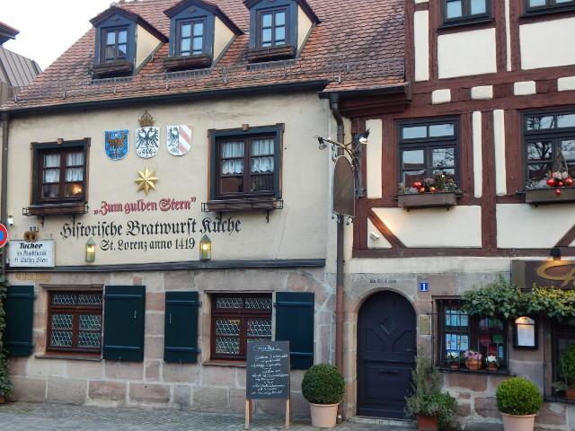 Historische Bratwurstküche in Nürnberg.