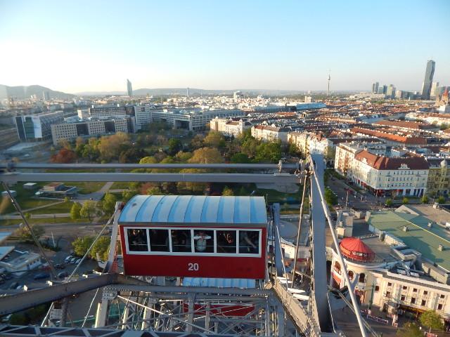Blick auf Wien vom Prater Riesenrad aus.