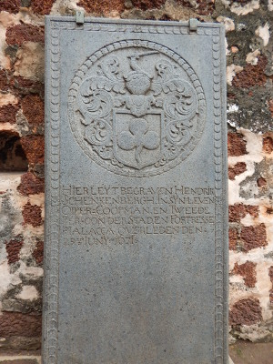 Holländische Grabplatte