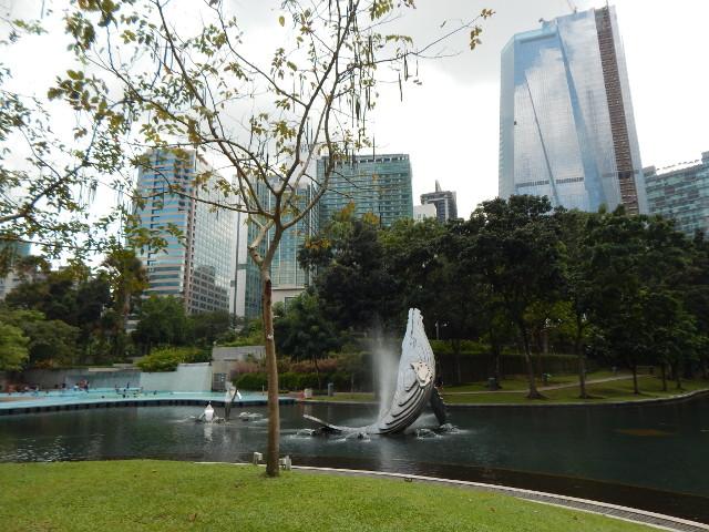 Der Park des Petronas Towers Kuala Lumpur.