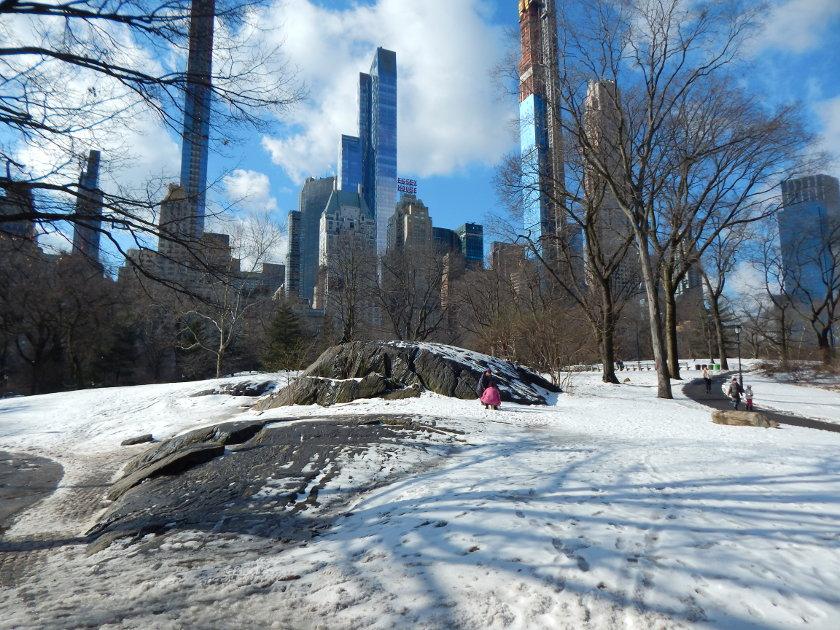 Winter in New York, Schnee im Central Park