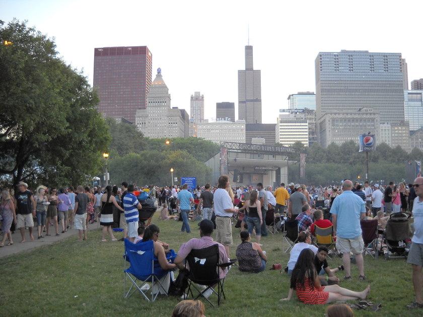 Chicago Blues Festival, wie der Blues in die Windy City kam. -
