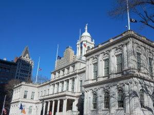 Das Rathaus, City Hall, in New York.