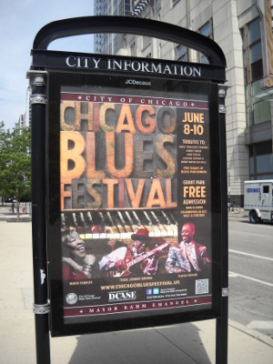 Chicago Blues Festival Poster