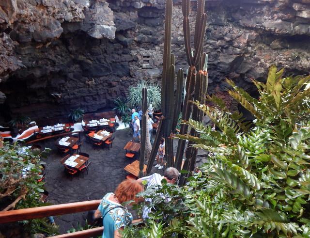 Die Treppe in die Höhle von Manrique