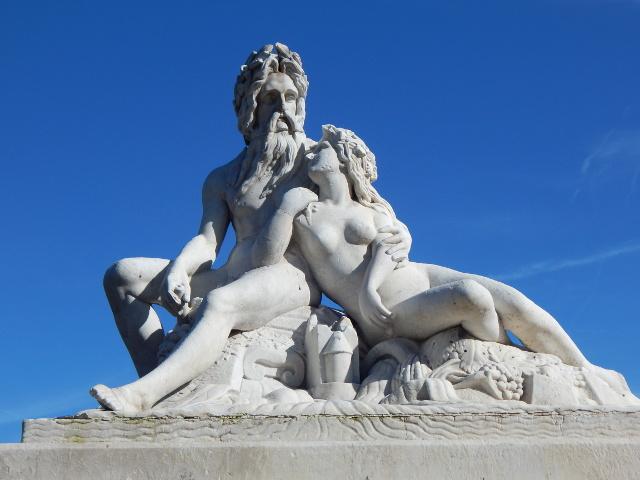 Denkmal Vater Rhein und Mutter Mosel in Koblenz.