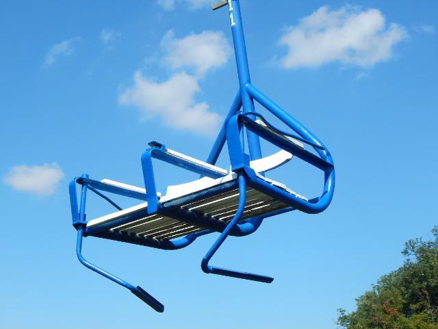 Der Sessellift in Boppard hat zwei Sitze.