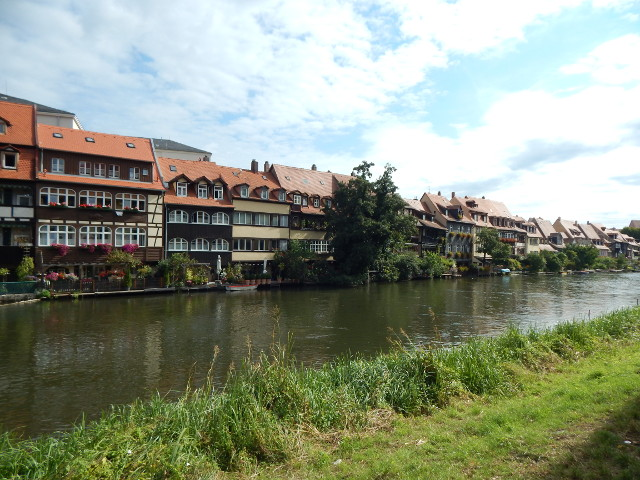 Blick auf Klein Venedig in Bamberg