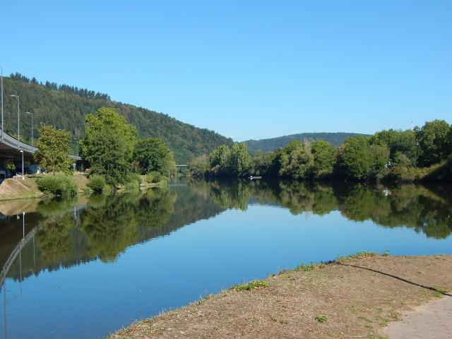 Wertheim Mündung der Tauber in den Main