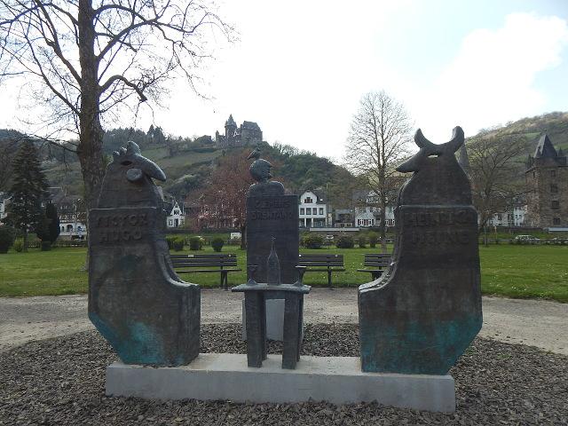 Das Denkmal der drei Poeten in Bacharach