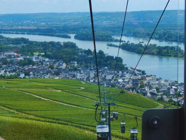 Abfahrt mit der Seilbahn nach Rüdesheim