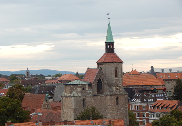 Blick von der Quadriga auf Braunschweig