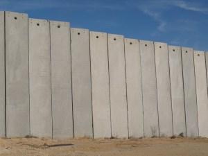 Gaza security fence.