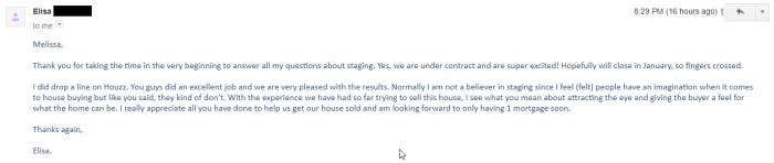 home staging testimonials