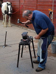 Our farrier hard at work