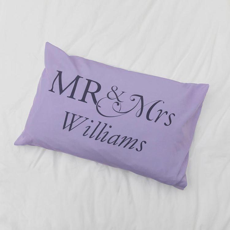 mr mrs pillow cases
