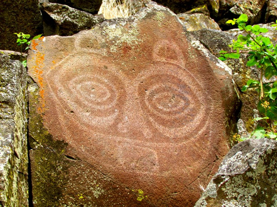 """She Who Watches"" Petroglyph, Columbia Gorge, Oregon"