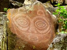 """She Who Watches"" Petroglyph, Columbia Gorge, Oregon"